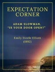 Expectation Corner  by Emily Steele Elliott