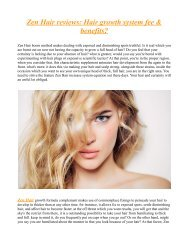 It's Time To Try Zen Hair Best Hair Growth Formula