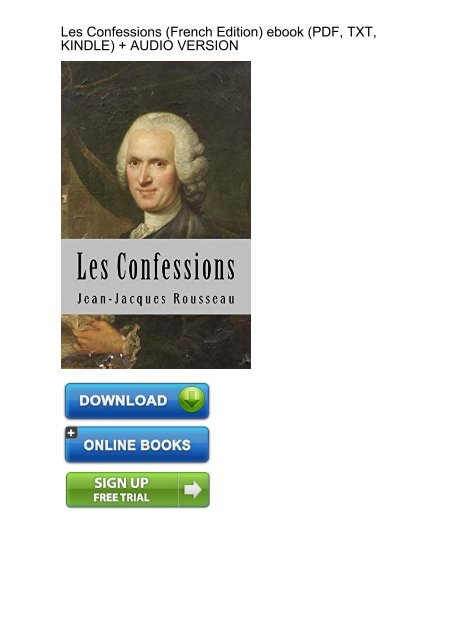 Easy Confessions French Jean Jacques Rousseau Ebook Ebook