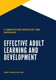 A Smarter Methodology and Approach - Effective Adult Learning and Development