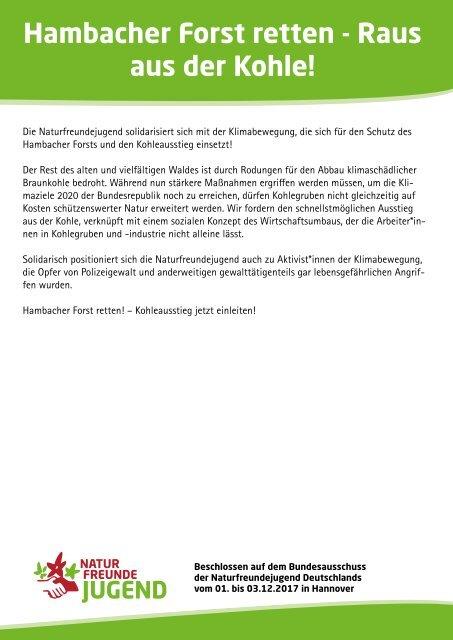Hambacher Forst retten - Raus aus der Kohle