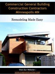 Commercial General Building Construction Contractors Minneapolis MN