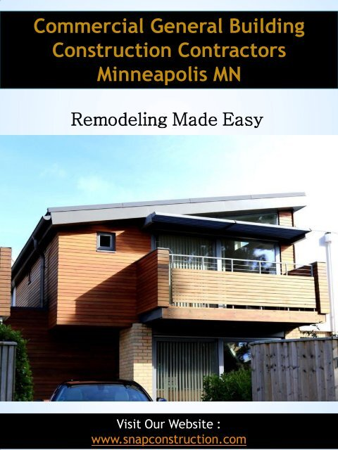 Commercial General Building Construction Contractors Minneapolis MN