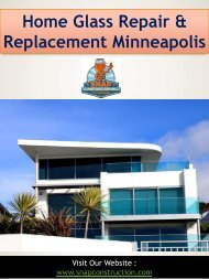 Home Glass Repair & Replacement Minneapolis