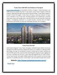 Trump Tower Sector 65 Gurgaon