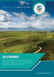 Tralee Golf Club Newsletter 2018