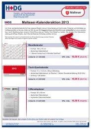 Malteser-Kalenderaktion 2013 - H+DG