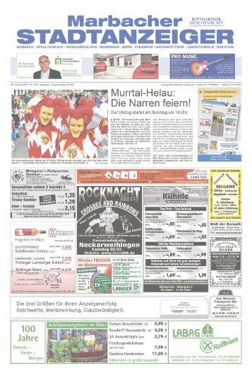 Marbacher Stadtanzeiger KW 9/2019