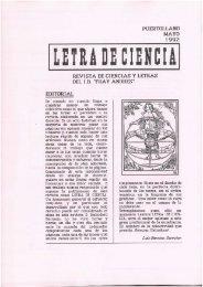 LETRA DE CIENCIA - 1992