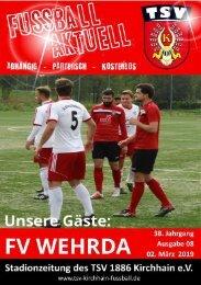 02.03.2019 Stadionzeitung - FV Wehrda