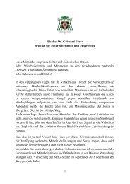 Bischof Dr. Gebhard Fürst Brief an die Mitarbeiterinnen und Mitarbeiter