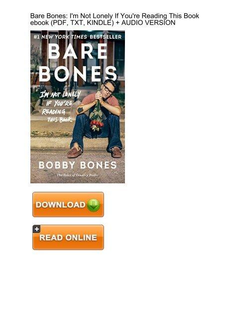 FUNNY) Bare Bones Lonely Youre Reading ebook eBook PDF