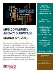 MPS Community Showcase Flyer 2019