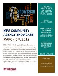 MPS Community Showcase Flyer 2019
