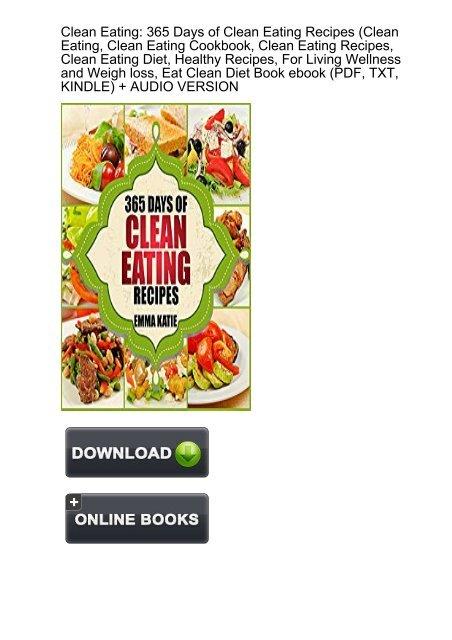 Clean eating diet book