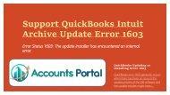 Support QuickBooks Intuit Archive Update Error 1603