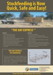 The Hay Express 2Tn Trailer and Ute mounted single bail