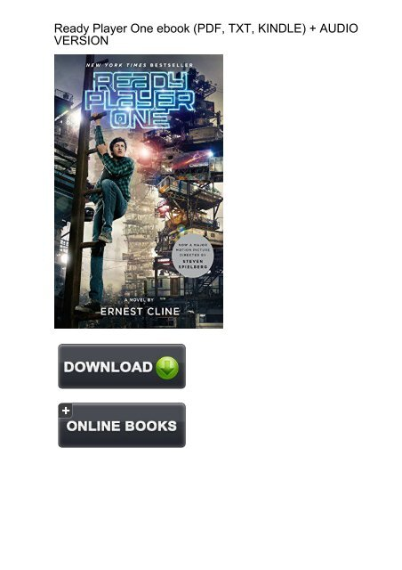 Quick Download Ready Player One Ernest Cline Ebook Ebook Pdf