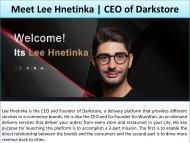 Lee Hnetinka Short Biography