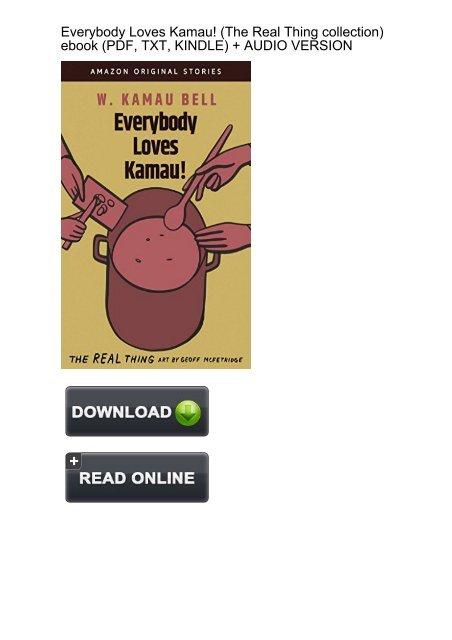 SURPRISED) Everybody Loves Kamau Thing collection ebook