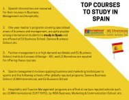 Top courses to study in Spain