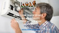 Hiring The Services of Top Rated,Quality,Exclusive Design HVAC  Agency