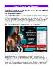 Answered: Your Most Burning Questions About Staxx Testosterone Booster
