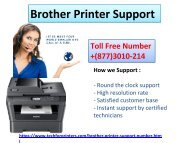 Find Best Ways To Get Rid Of All Brother Printer Tech  Errors On +1877(3010)214