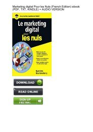 (CONFIDENT) Download Marketing digital Pour Nuls French ebook eBook PDF