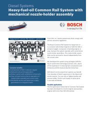 Datasheet Heavy-fuel-oil Common Rail System (PDF - Bosch ...