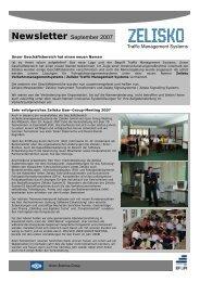 Newsletter September 2007 - Zelisko