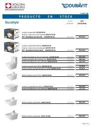 Duravit - Tarifa - Promociones Duravit Productos en Stock