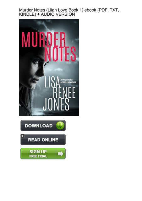 STRONGLY SUGGEST) Murder Notes Lilah Love Book ebook eBook PDF