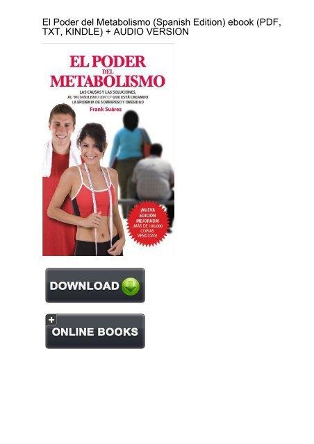 SPUNKY) El Poder del Metabolismo Spanish ebook eBook PDF
