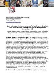 Barix präsentiert in Kooperation mit Railtec Systems GmbH die erste ...