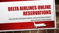 Delta Customer Service Online Reservations