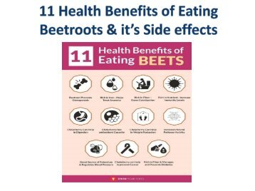 11 Health Benefits of Eating Beetroots