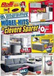 Möbel-Hits für clevere Sparer Rolli SB-Möbelmarkt in 65604 Elz