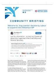Board of Deputies Community Briefing 28th February 2019 copy