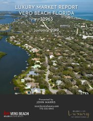 Luxury Market Report Vero Beach FL 32963 - January 2019