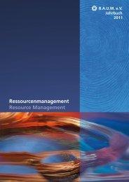 B.A.U.M.-Jahrbuch 2011: Ressourcenmanagement