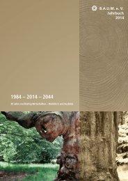 B.A.U.M.-Jahrbuch 2014: 1984 - 2014 - 2044. 30 Jahre nachhaltig Wirtschaften - Rückblick und Ausblick