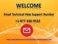 Email Technical Support Number 1877-503-0107