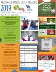 Carton d'information - La relâche scolaire 2019 V2