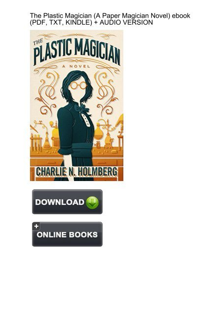 Download The Plastic Magician By Charlie N Holmberg