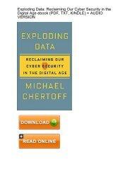 (CHILD-LIKE) Exploding Data Reclaiming Security Digital ebook eBook PDF