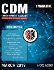 Cyber Defense eMagazine - March Edition 2019
