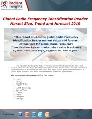 Global Radio Frequency Identification Reader Market Size, Trend and Forecast 2019