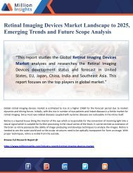 Retinal Imaging Devices Market Landscape to 2025, Emerging Trends and Future Scope Analysis