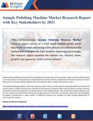 Sample Polishing Machine Market Research Report with Key Stakeholders by 2021
